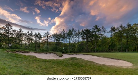 Golfcourse background pictures of The Netherlands with beautiful sky