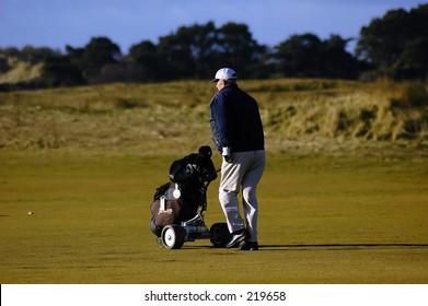 Golfer, Carnoustie, Scotland