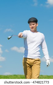 golfer closer to the point of impact