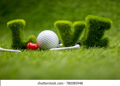 To golfer with love on Valentine's day
