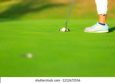 The golfer and putter