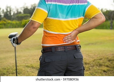 golfer sport have back pain during the game
