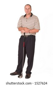 Golfer standing with driver in hand