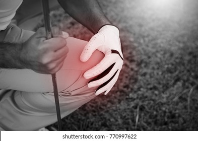 Golfers have severe knee pain while playing golf