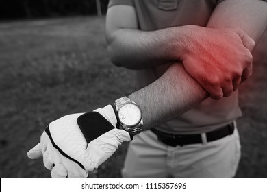 Golfers are injured arm while playing golf