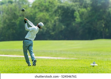 Golfing Swing Action Isolated