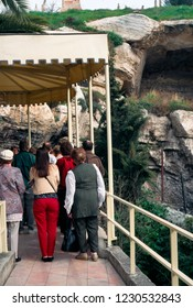 Golgotha, Jerusalem, Israel, the Place of the Skull, skull shaped rock March 9, 1998formation