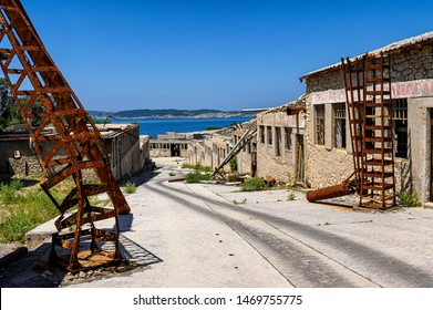 Goli otok (Naked Island) was a political prison in ex-Yugoslavia. Conditions were very harsh, many people died and underwent brutal phisycal and mental torture. It was impossible to escape from it.