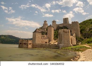 Golubac fortress along the Danube river - Serbia