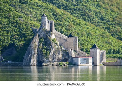 The Golubac fortress on the Serbian bank of the Danube