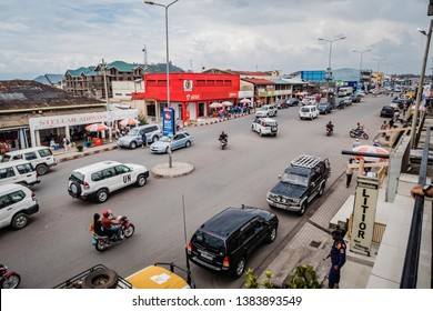 Goma, North Kivu/Democratic Republic of Congo - October 25 2019: Streetview city of Goma