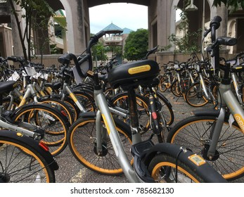 Gombak, Kuala Lumpur, Malaysia, 3rd January 2018 - Obike is a newest transportation for public that making a trend on this modern day