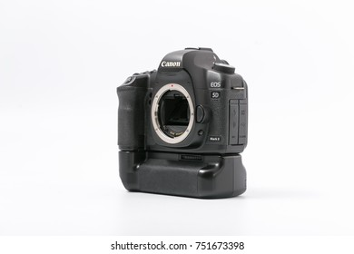 GOMEL, BELARUS - 9 November 2017: digital camera CANON MARK 2 Body