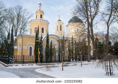 GOMEL, BELARUS - JANUARY 08, 2016: Main Cathedral  in Christmas in Gomel, Belarus.