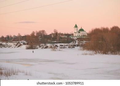 GOMEL, Belarus - MARCH 24, 2018: Church of St Nicholas the Wonderworker