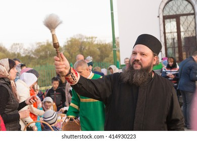 Gomel BELARUS May 1, 2016: Easter Sunday at the Cathedral of St. Nicholas. Orthodox national religious holiday.