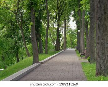 GOMEL, BELARUS - MAY 15, 2019: City Park. Rumyantsev Palace Complex.