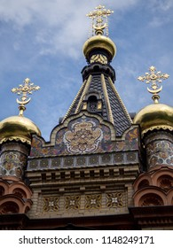 Gomel, Belarus-July 30 chapel-tomb of Paskevich princes in Gomel Park in summer