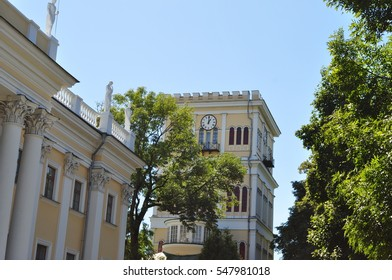 Gomel palace tower in sunny day