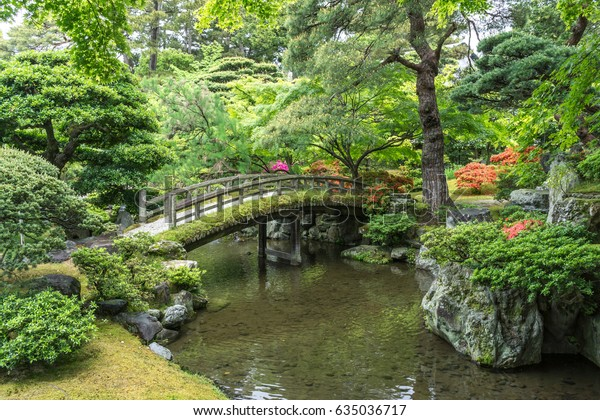gonaitei garden in kyoto imperial palace in kyoto, japan
