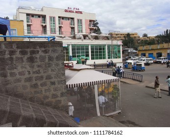 GONDAR,  ETHIOPIA - CIRCA MAY 2010 : Scenery of streets in GONDAR.