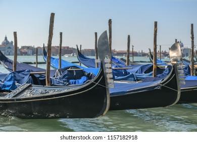 Gondola along the many canals of Venice, Italy.