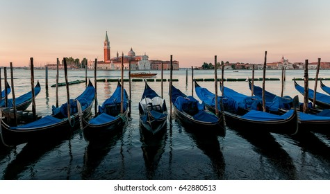 Gondola boats at Venice, Italy.
