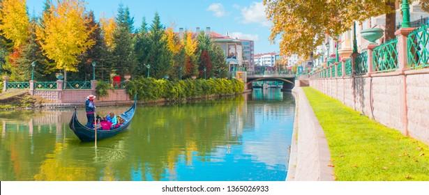 Gondola on Porsuk River - Eskisehir, Turkey