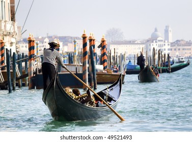 Gondola towards San Marco square, Venice
