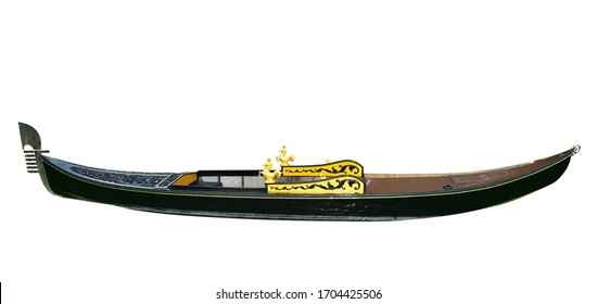 Gondola Venice Italy isolated on white background. This has clipping path.