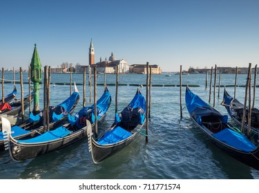Gondolas by St. Mark´s Square Venice, Italy,  2014