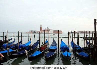 Gondolas at the end of the day