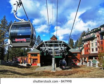 Gondolas in Lake Tahoe, California