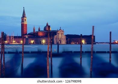 Gondolas in Venice,Italy
