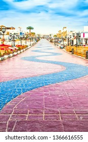 The gone away road. Naama Bay in Sharm El Sheikh, Egypt