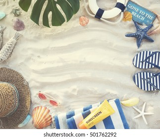 Gone to the Beach Summer Holiday Vacation Starfish Concept