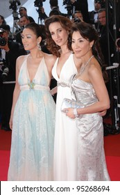 Gong Li (left), Andie MacDowell & Michelle Yeoh at the 60th anniversary gala at the 60th Annual International Film Festival de Cannes. May 20, 2007  Cannes, France.  2007 Paul Smith / Featureflash