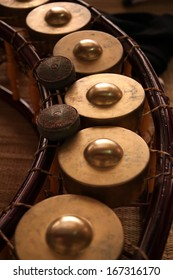 Gong Thai traditional music instrument