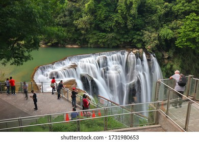 Gongliao District, New Taipei, Taiwan - Apr. 30, 2020: Landscape aside Shifen Waterfall