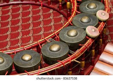 Gong,Thai musical instrument.