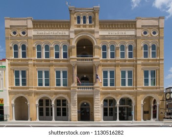 GONZALES, TEXAS - JUNE 10 2018: a grand 3 and a half story building finished in 1896