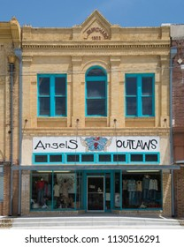 GONZALES, TEXAS - JUNE 10 2018: a little boutique featuring both clothes for men and women