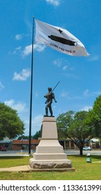 GONZALES, TEXAS - JUNE 10 2018: a symbol of Texas defiance to Mexican forces, come and take it