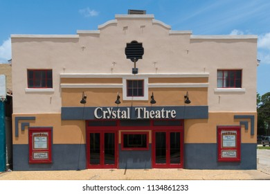 GONZALES, TEXAS - JUNE 10 2018: one hundred year old theatre still in operation
