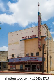 GONZALES, TEXAS - JUNE 10 2018: The Lynn Theater opened in 1947 and is still operating today