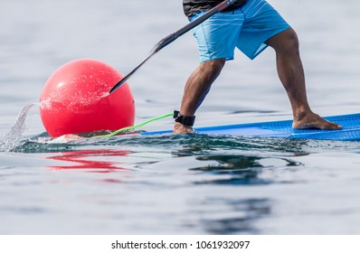 Good action on Stand Up Paddle Board