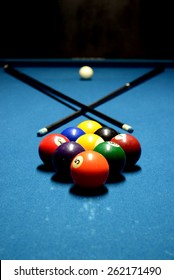 Its a good day to play some pool. 9 ball set-up