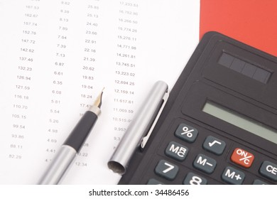 Good financial calculate on the financial sheet