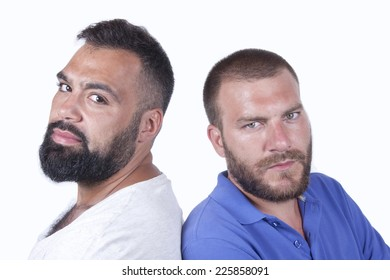 Good friends posing to cam