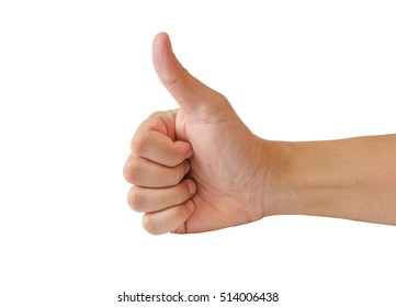 Good hand, good job ,show thump up for agreement sign with success business concept.